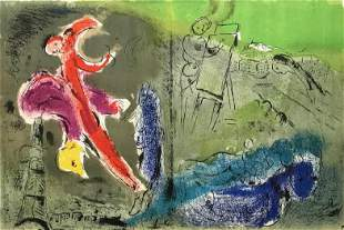 "Marc Chagall ""Vision of Paris"" original lithograph"