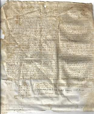 1518 Spanish Vellum Manuscript