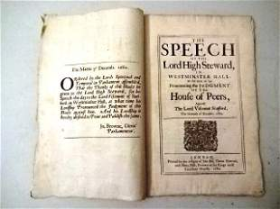 1680 Speech of Lord High Steward Against Stafford