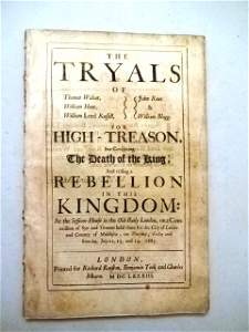 1683 The Tryals for High Treason Rebellion