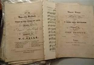 Large Group 19th C English Sheet Music