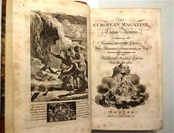 1787 European Magazine Volume Engravings Wordsworth