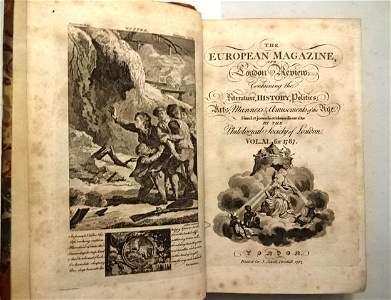 1787 European Magazine Volume Engravings Wordsworth