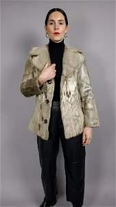 Vintage Golden Spotted Seal Fur Jacket