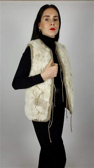 White Rabbit Fur Gilet
