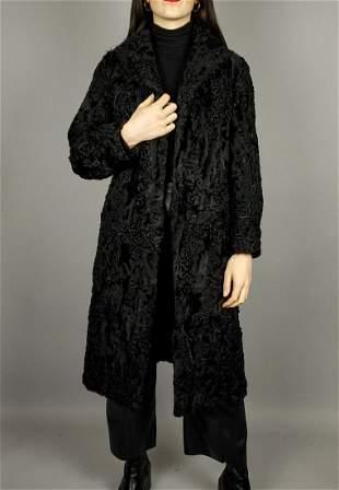 Black Broadtail Persian Lamb Coat