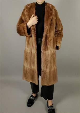 Light Brown Mink Fur Coat