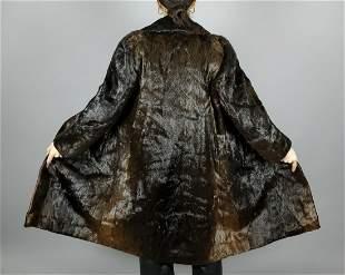 Vintage Brown Seal Fur Coat