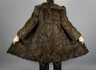 Brown Nutria Fur Jacket