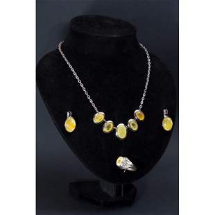 32g Vintage Baltic amber, set necklace, earrings, ring