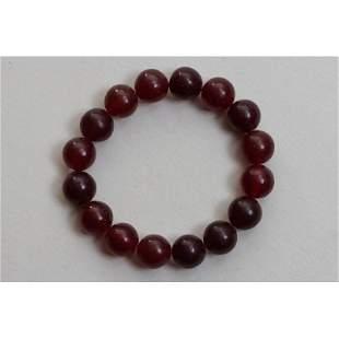 20g Vintage 100% natural Baltic amber bracelet red