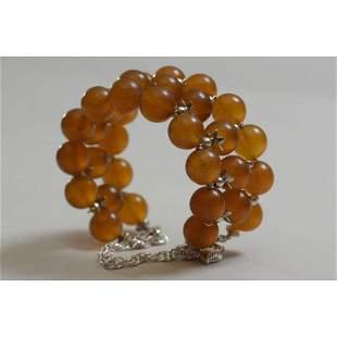 45 g. Natural Baltic amber bracelet cognac color