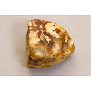 25g.100% Baltic amber stone raw (rough), landscape