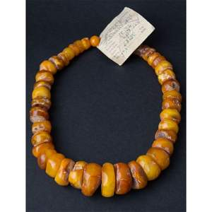 91 gram Necklace from 100% natural Baltic amber button