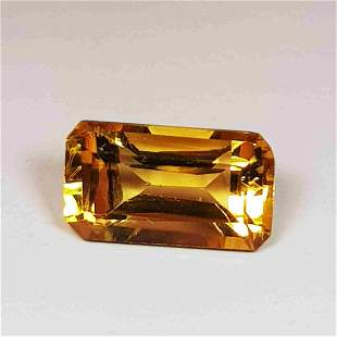 Natural Citrine Emerald Cut 2.18 ct