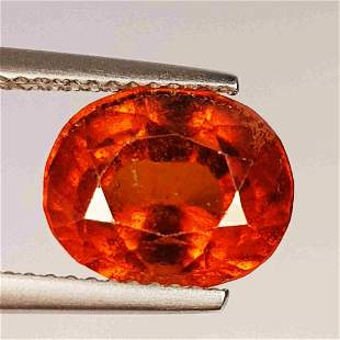 Natural Hessonite Garnet Oval Cut 5.00 ct