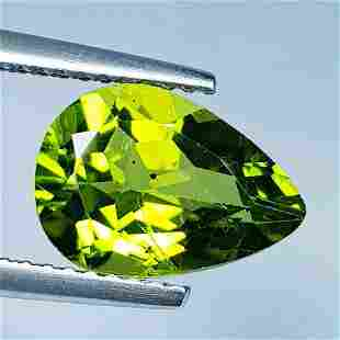 Natural Peridot Pear Cut 3.14 ct