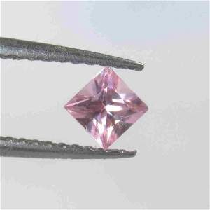 0.33 Ctw Natural Unheated Pink Sapphire Princess Cut