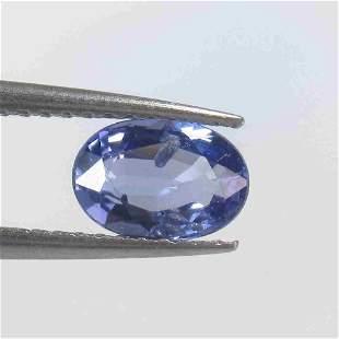 0.98 Ctw Natural Blue Sapphire Oval Cut