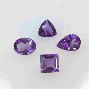 4.26 Ctw Natural 4 Purple Amethyst Mixed Set