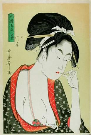 UTAMARO, Kitagawa (1550-1906): Moatside Prostitute