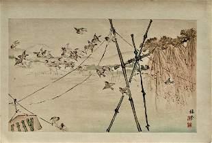 Takeuchi Seiho: Sparrows of Plentiful Harvest