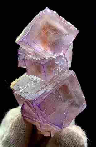 Natural Cubic Phantoms Fluorite Crystal From Pakistan -