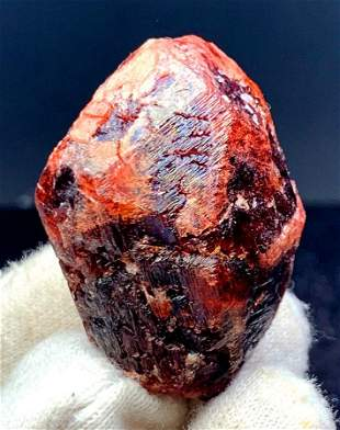 Natural Red Garnet Crystal Mineral Specimen From