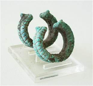 Prehistoric BC Excav. Thai Ban Chiang Bronze Bracelets