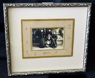 """1900 Chinese Framed B&W Photo """"Three Young Man"""""""
