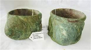 Cambodian SE Asian Khmer Excav. Bronze Cone Bracelets