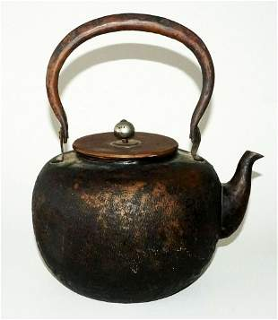 20C Japan Copper Hot Water Tea Kettle Textured Finish