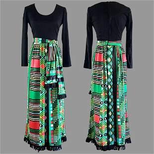 Vtg 70s Maxi dress by Miss Eileen Boho chic Hostess