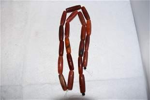 """20"""" Strand of Polished Carnelian Beads"""