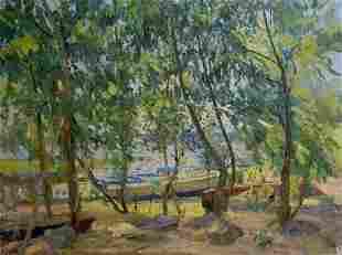 Oil painting A park Latunov Grigory Antonovich