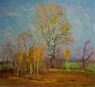 Oil painting Waiting for the winter Mynka Alexander