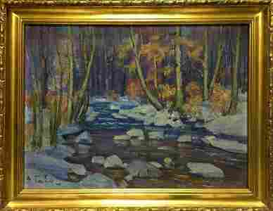 Oil painting End of winter Gabda Vasily Georgievich