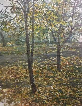 Oil painting Fall has come Palazhchenko Irina