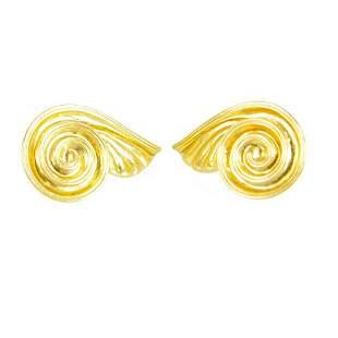 ILIAS LALAOUNIS vintage Swirl Spiral Wings 18K yellow