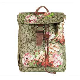 GUCCI Beige/Rose GG Monogram Coated Canvas GG Blooms