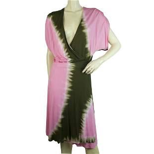 DVF Diane Von Furstenberg Pelego Wrap Tie Dye Pink