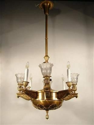 """BEARDSLEE"" Beaux Arts Gas Electric Light Fixture (6"