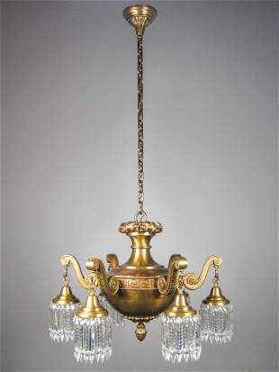 Monumental Beaux Arts Chandelier (6 Light)