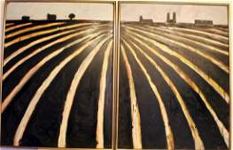 "Pair of Paintings titled ""Terra Nova."" January 1989."
