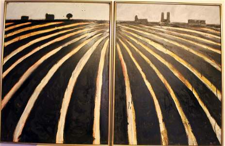 "Pair of Paintings titled ""Terra Nova."" January 1989."