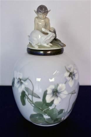 Royal Copenhagen Porcelain and Sterling Silver