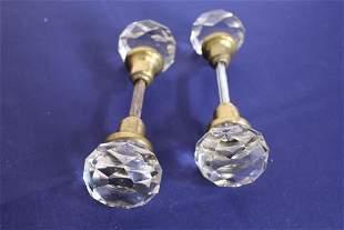 Pair of Antique Crystal Passage Set