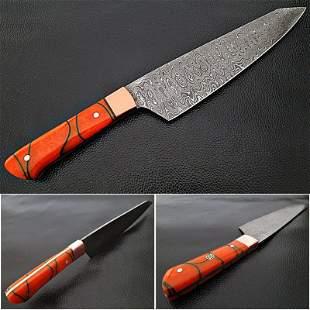 Kitchen chef exclusive pattern damascus steel knife