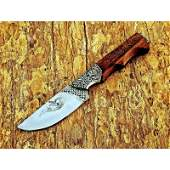Handmade camping work steel knife hunting walnut wood