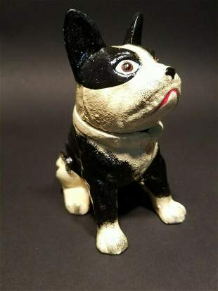 Cast Iron Bulldog Head Open Container